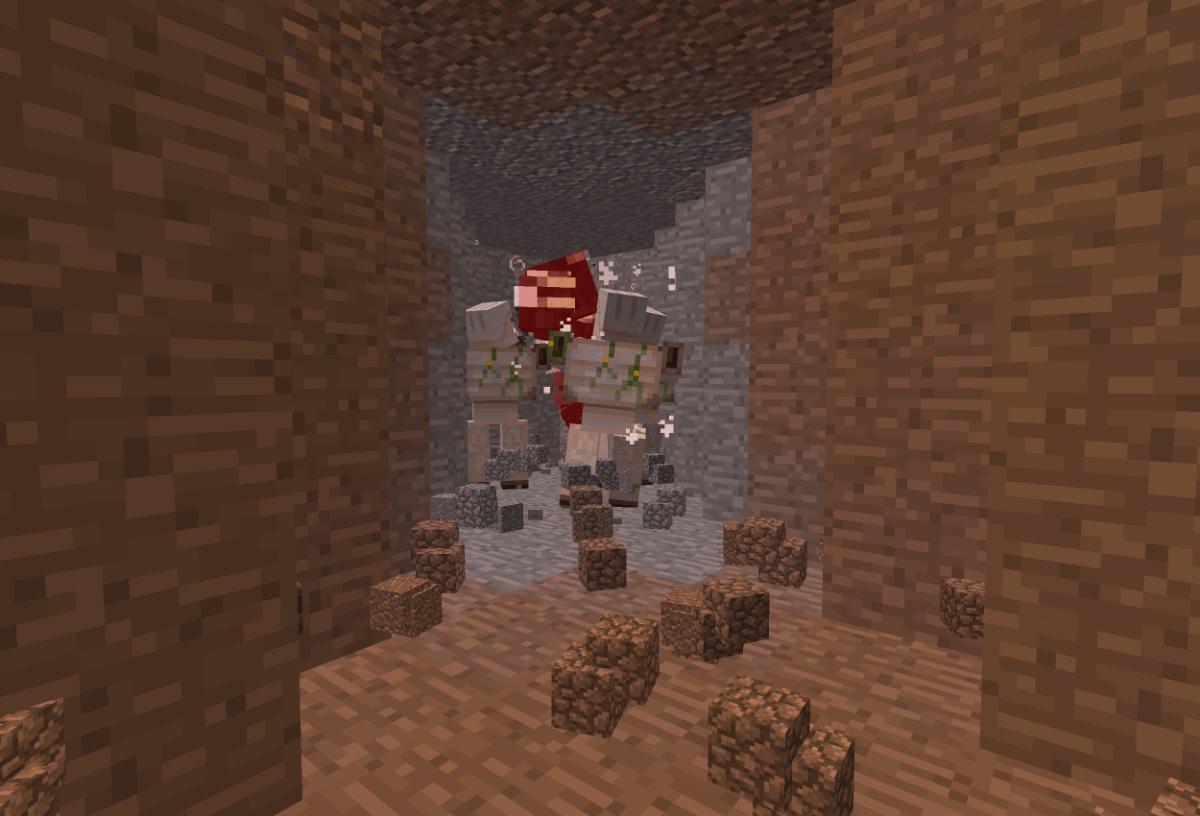 ウィザーをアイアンゴーレムに倒してもらった