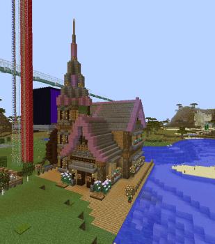 農民の住む水車小屋