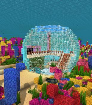 サンゴ採集拠点を作る