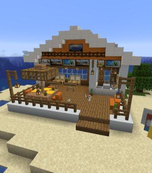 1.14スナップショットでビーチに海の家を作ってみた
