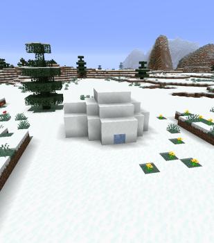 もしも:雪原にスポーンしたら