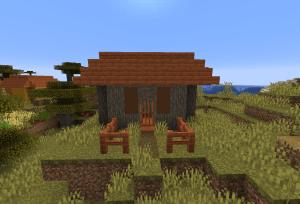 入り口が立派な家