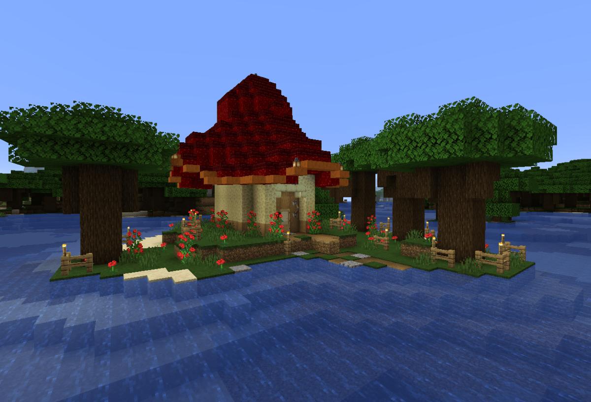真似っ子建築:覆われた森にキノコハウス建ててみた