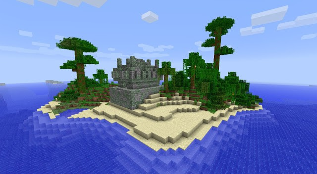 Jungle Island With Temple Minecraft Building Inc