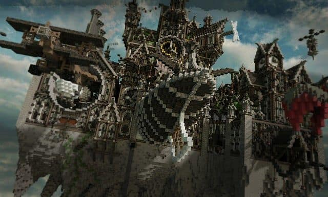 Blackwind Metropolis A City In The Sky Minecraft Building Inc