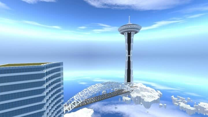 City On A Cloud Minecraft Building Inc