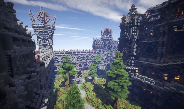 Epic Evil Themed Medieval Faction Spawn Minecraft