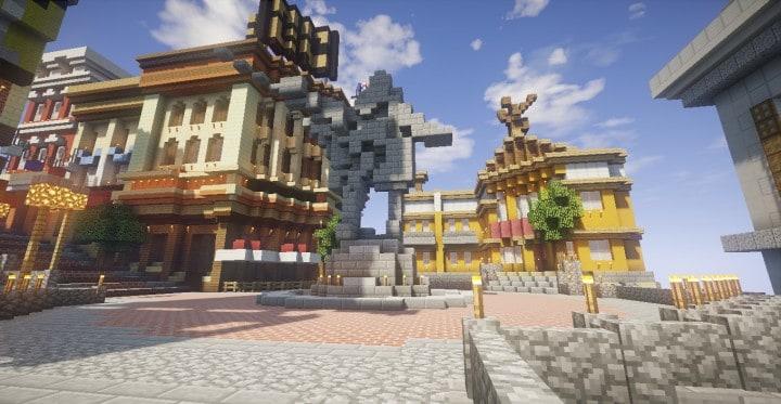 Columbia Bioshock Infinite Minecraft Building Inc