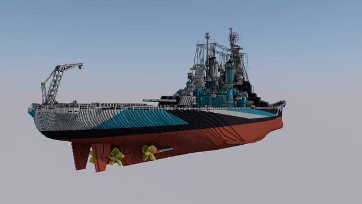 USS Missouri 41 Scale Minecraft Building Inc