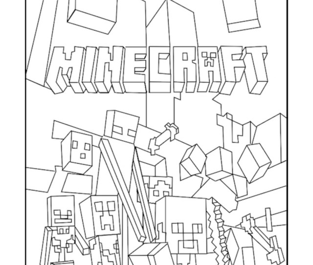 Minecraft Mobs A Minecraft Coloring Page For Kids