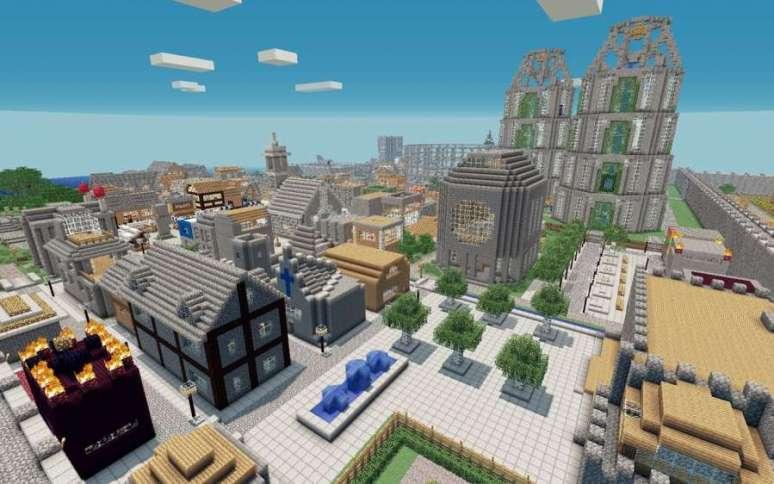 Gran ciudad mediaval minecraft