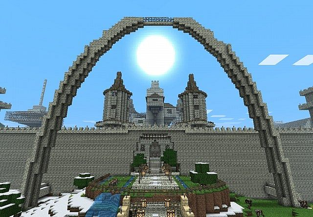 super mega castillo minecraft descargar schematic
