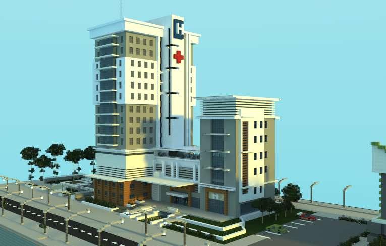 Hospital moderno minecraft minecraft descargas for Minecraft moderno