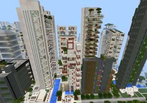 Ciudad Moderna #MinecraftPE