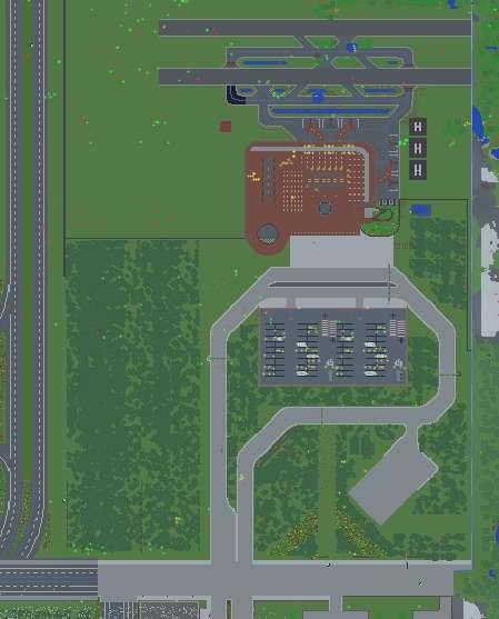Gran aeropuerto Minecraft