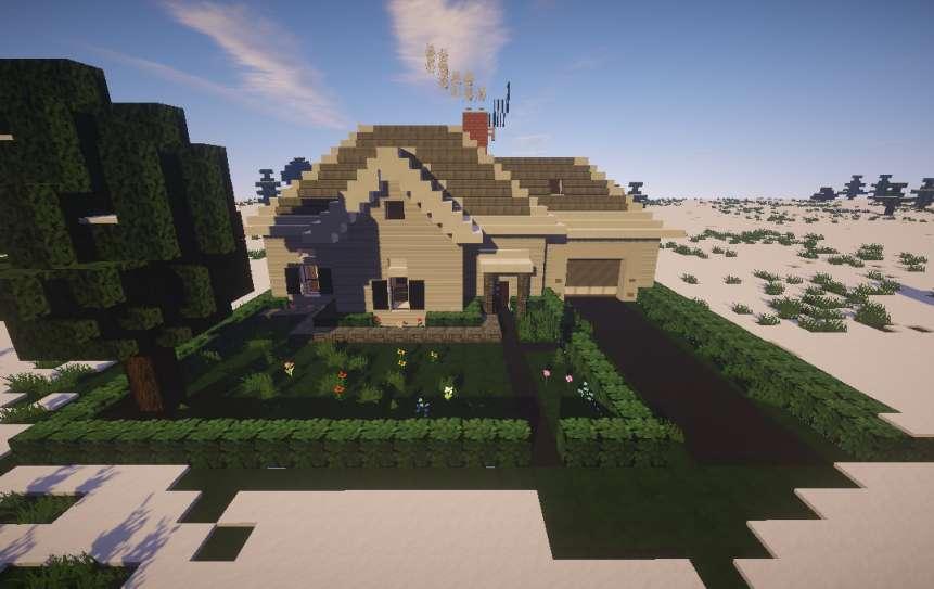 Casa Blanca Simple Minecraft