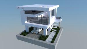 Casa Moderna 16x16 para Minecraft