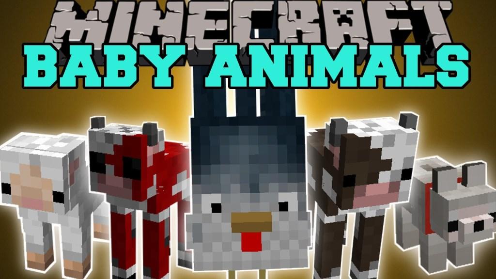 Baby Animals Mod Minecraft