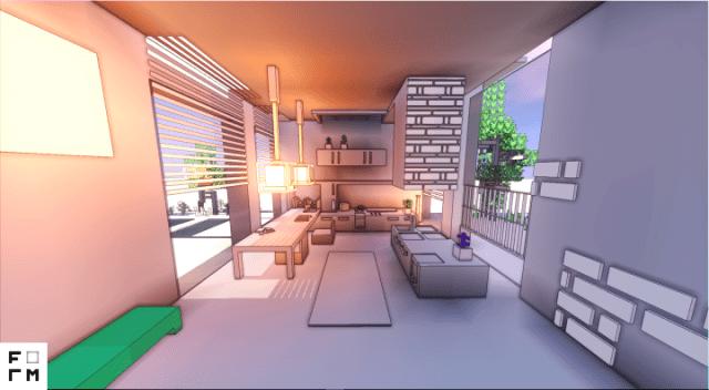 White architecture texture pack para minecraft for Minecraft moderno