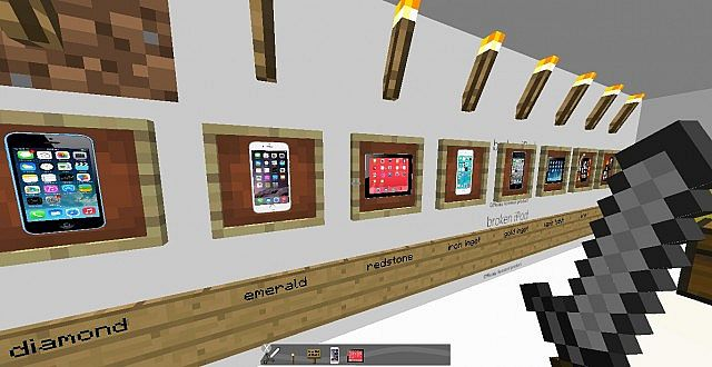 мод на айфон в майнкрафт #5