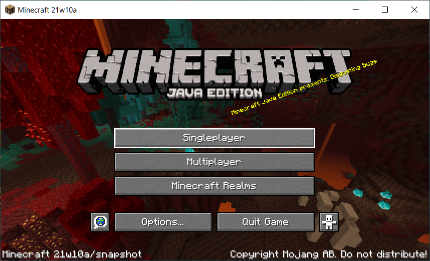 Single player minecraft