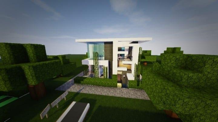 small modern house design minecraft Rhydous