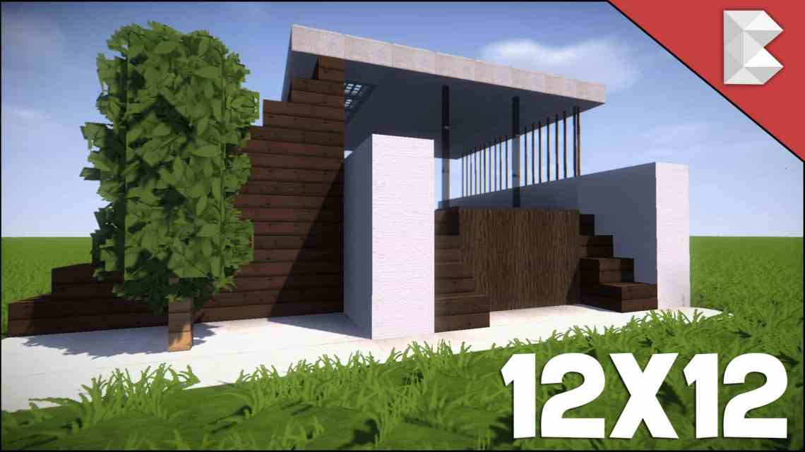 Minecraft: 12X12 Modern House Tutorial   How to Build Best ...