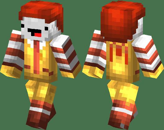 Ronald Mcdonald With Derp Face Minecraft Skin Minecraft Hub
