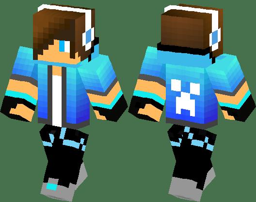 Blue Creeper Boy Minecraft Skin Minecraft Hub