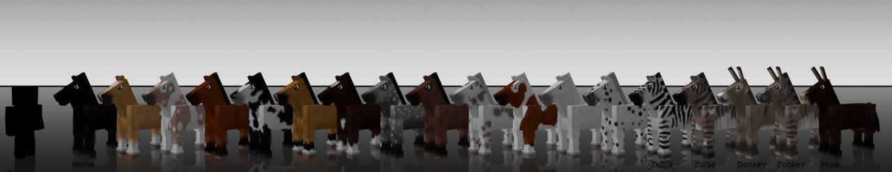 Лошади из мода MoCreatures
