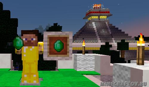 Emerald på skærmen Minecraft