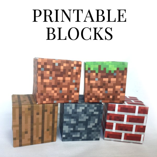 minecraft printable blocks # 1
