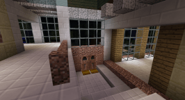 Looking back at the front entrance. I have used lots of windows and skylights to try to merge indoor and outdoor.