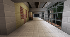 Slightly upstairs and to the right you come to this hallway. I am using rooms off this hallway for storage and to house a Forestry autofarm.