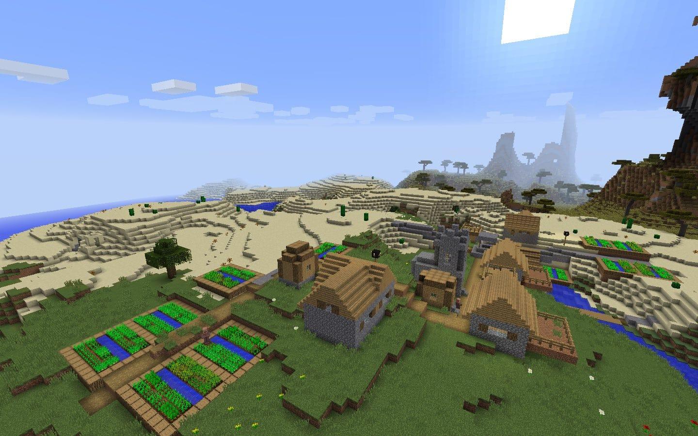 как создать новый мир с деревней в майнкрафте #1
