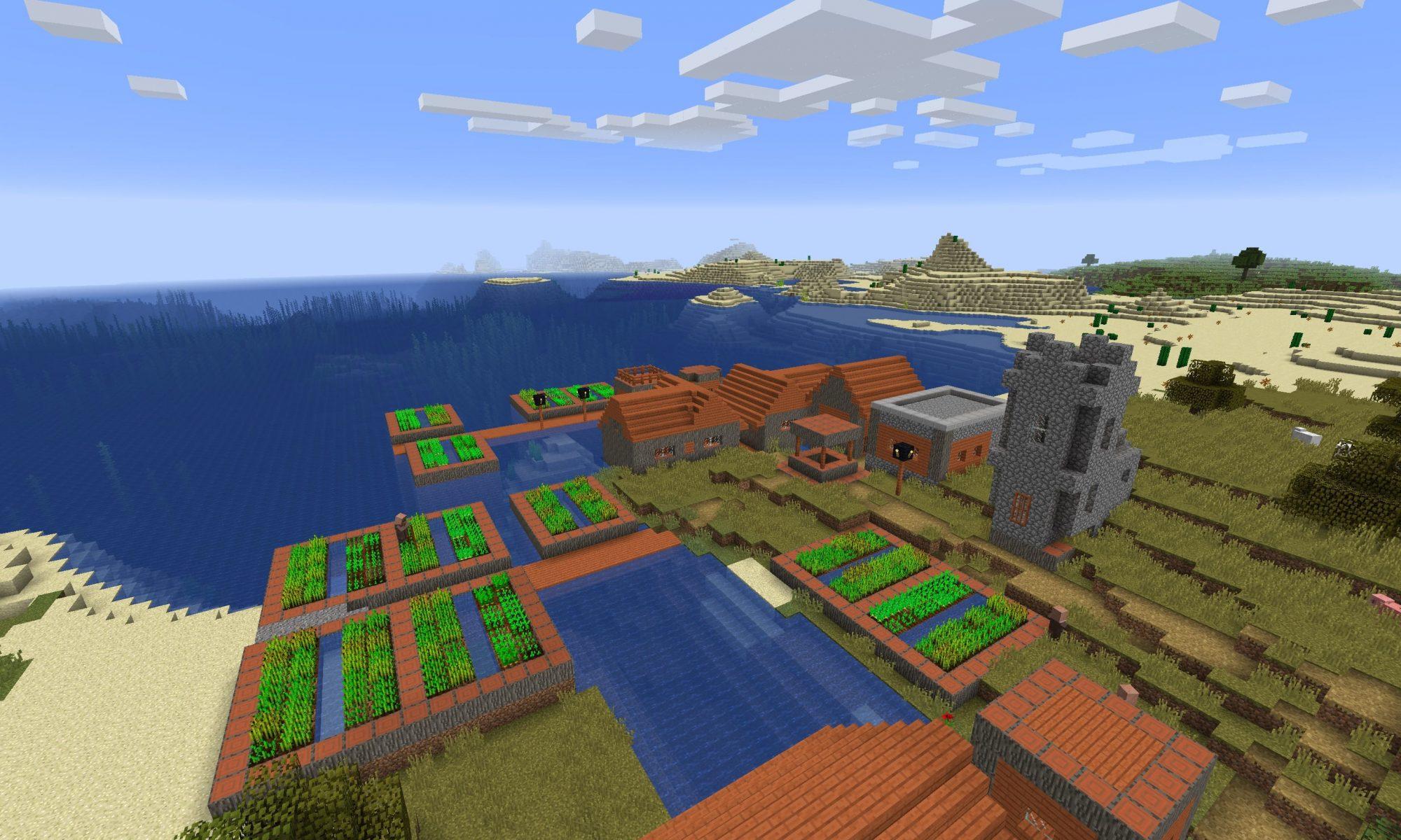 Seaside Blacksmith Village Seed For Java Edition