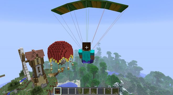 Parachute Mod for Minecraft 1
