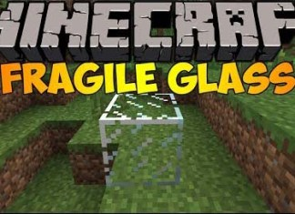 Fragile Glass Mod for Minecraft