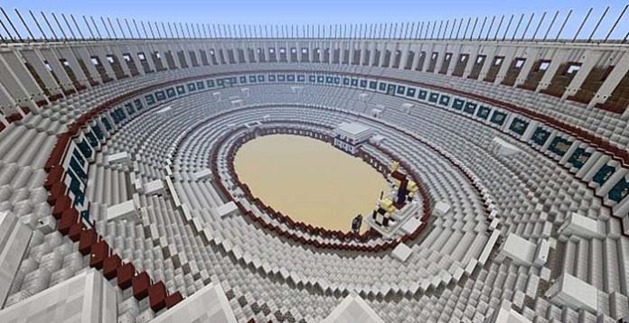 RomeCraft Colleseum Map for Minecraft