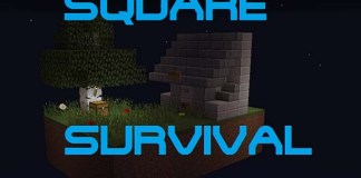 Square Survival Map for Minecraft