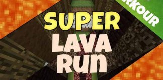 Super Lava Run Map for Minecraft