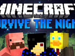 Survive the Night Map for Minecraft
