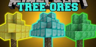 TreeOres Mod for Minecraft