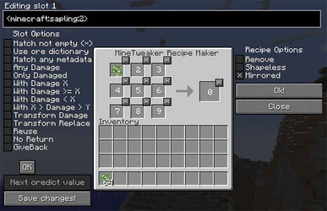 MineTweaker 3 Mod for Minecraft