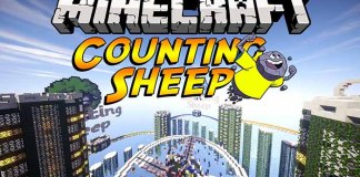 Counting Sheep Map for Minecraft