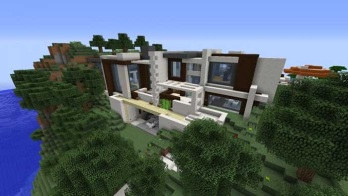 Modern Redstone Smart House Map For Minecraft - Minecraft house map