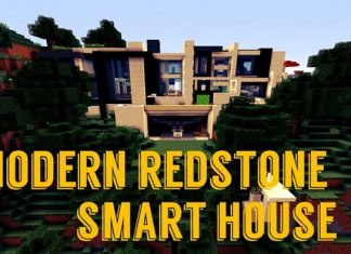 Modern Redstone Smart House Map for Minecraft