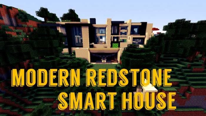 Modern Redstone Smart House Map For Minecraft 19189