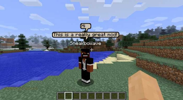 Chat Bubbles Mod for Minecraft 1.7.10