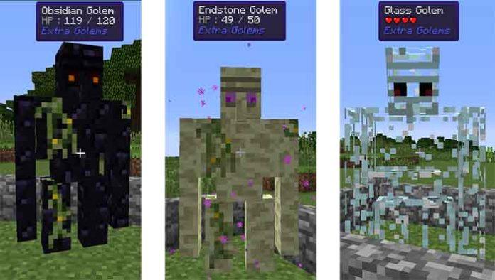Extra Golems Mod for Minecraft